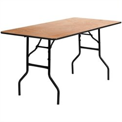 Rectangular Folding Banquet Table in Black