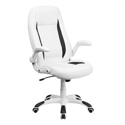 High Back Leather Executive Office Chair in White