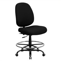 Drafting Chair with Extra Wide Seat in Black