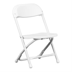 Kids Plastic Folding Chair in White