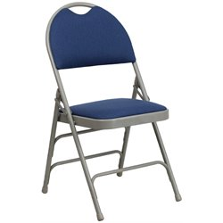 Flash Furniture Hercules Metal Folding Chair in Navy