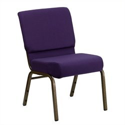 Flash Furniture Hercules Church Stacking Chair in Royal Purple