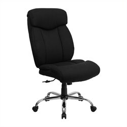 Flash Furniture Hercules Fabric Office Chair in Black
