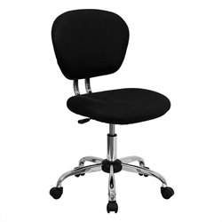 Mid-Back Mesh Task Office Chair in Black and Chrome