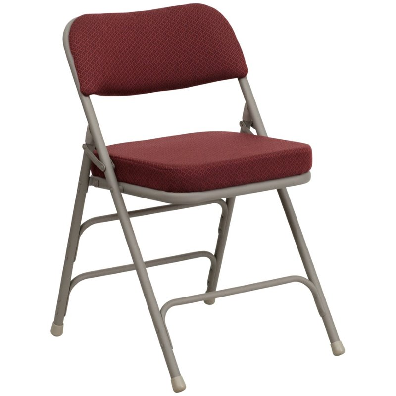 Upholstered Metal Folding Chair HA MC320AF BG GG