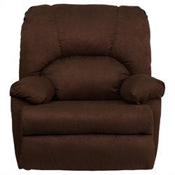Contemporary Montana Rocker Recliner in Chocolate