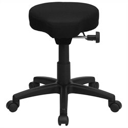 Saddle-Seat Utility Stool in Black