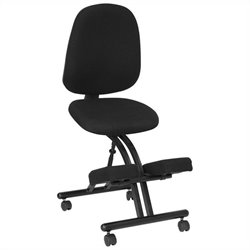Mobile Ergonomic Kneeling Posture Office Chair in Black