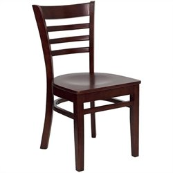 Dining Chair in Mahogany with Burgundy Seat