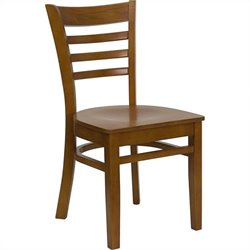 Ladder Back Restaurant Dining Chair in Cherry