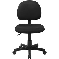 Armless Ergonomic Task Office Chair in Black