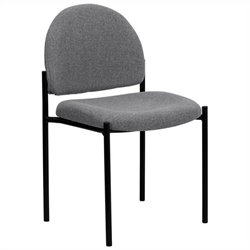 Stacking Side Stacking Chair in Black and Gray