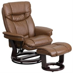Leather Recliner in Palimino Brown