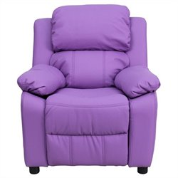 Contemporary Kids Recliner in Lavender