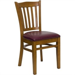 Dining Chair in Cherry with Burgundy Seat