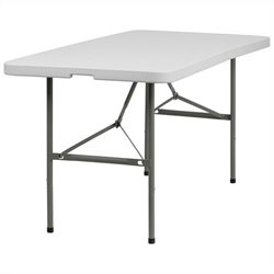 Bi-fold Folding Table in White