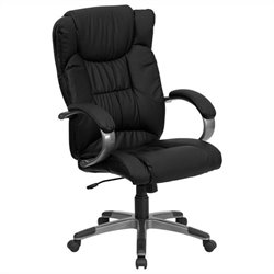 High Back Executive Office Chair in Black with Arms