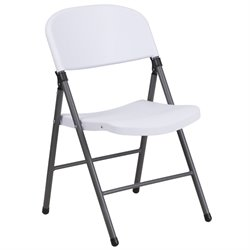 Plastic Folding Chair in Gray and White