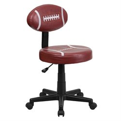 Football Task Office Chair in Brown and Black
