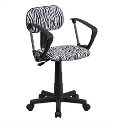 Black and White Zebra Print Computer Office Chair