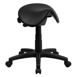 Backless Saddle Stool in Black