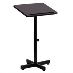 Adjustable Height Metal Lectern in Mahogany