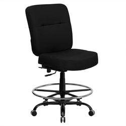 Flash Furniture Hercules Drafting Chair with Extra Wide Seat in Black