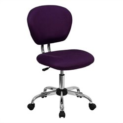 Mid-Back Mesh Task Office Chair in Purple