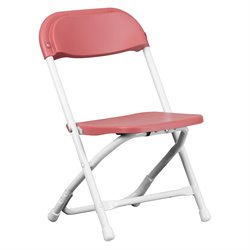 Kids Plastic Folding Chair in Burgundy