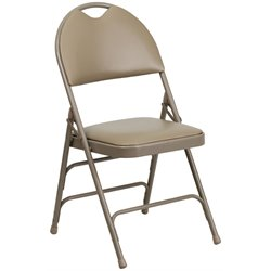 Metal Folding Chair in Beige