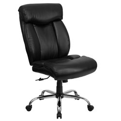 Flash Furniture Hercules Leather Office Chair in Black
