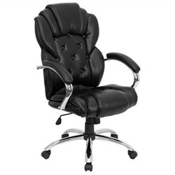 High Back Transitional Style Office Chair in Black