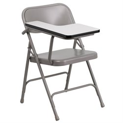 Steel Folding Chair with Right Hand Tablet Arm