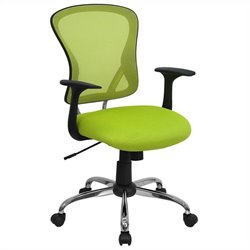Mid Back Mesh Office Chair in Green