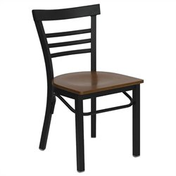 Black Ladder Back Dining Chair in Cherry
