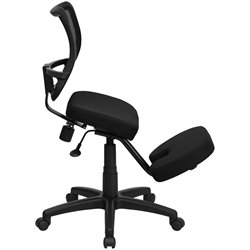 Mobile Ergonomic Kneeling Task Office Chair in Black