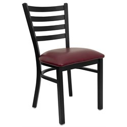 Dining Chair in Burgundy and Black