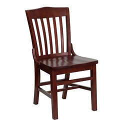 Wood Restaurant Dining Chair in Mahogany