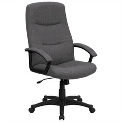 High Back Swivel Office Chair in Gray