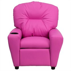 Contemporary Kids Recliner in Pink