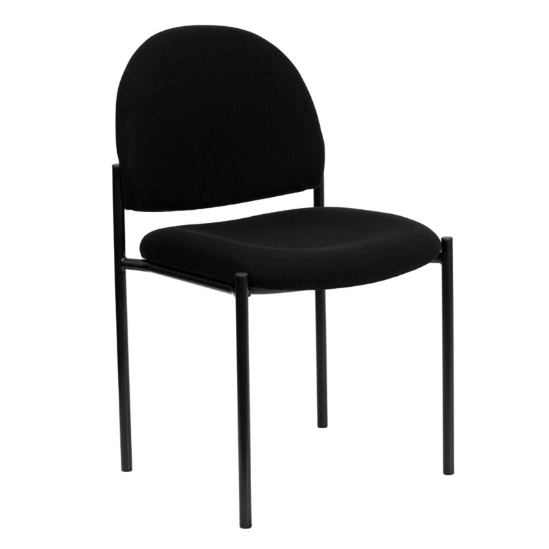 Stacking Side Stacking Chair in Black