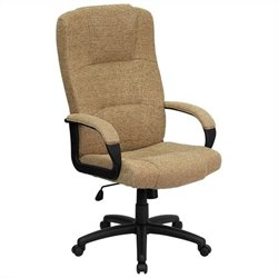 High Back Office Chair in Beige