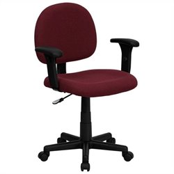 Ergonomic Office Chair in Burgundy