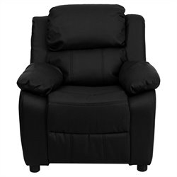 Contemporary Kids Recliner in Black