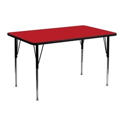 Rectangular Activity Table in Red