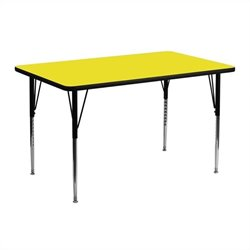 Rectangular Activity Table in Yellow