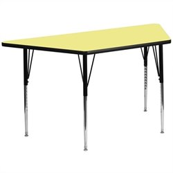 Trapezoid Activity Table in Yellow