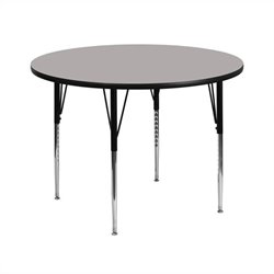 Round Activity Table in Gray