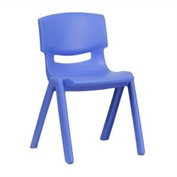 Plastic Stackable School Chair in Blue