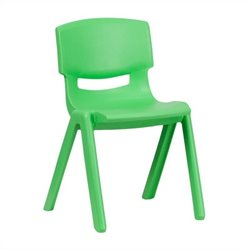 Plastic Stackable School Chair in Green